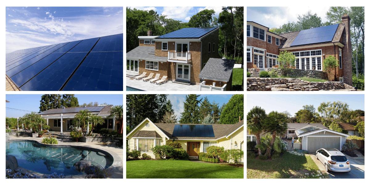 collage of SunPower installation
