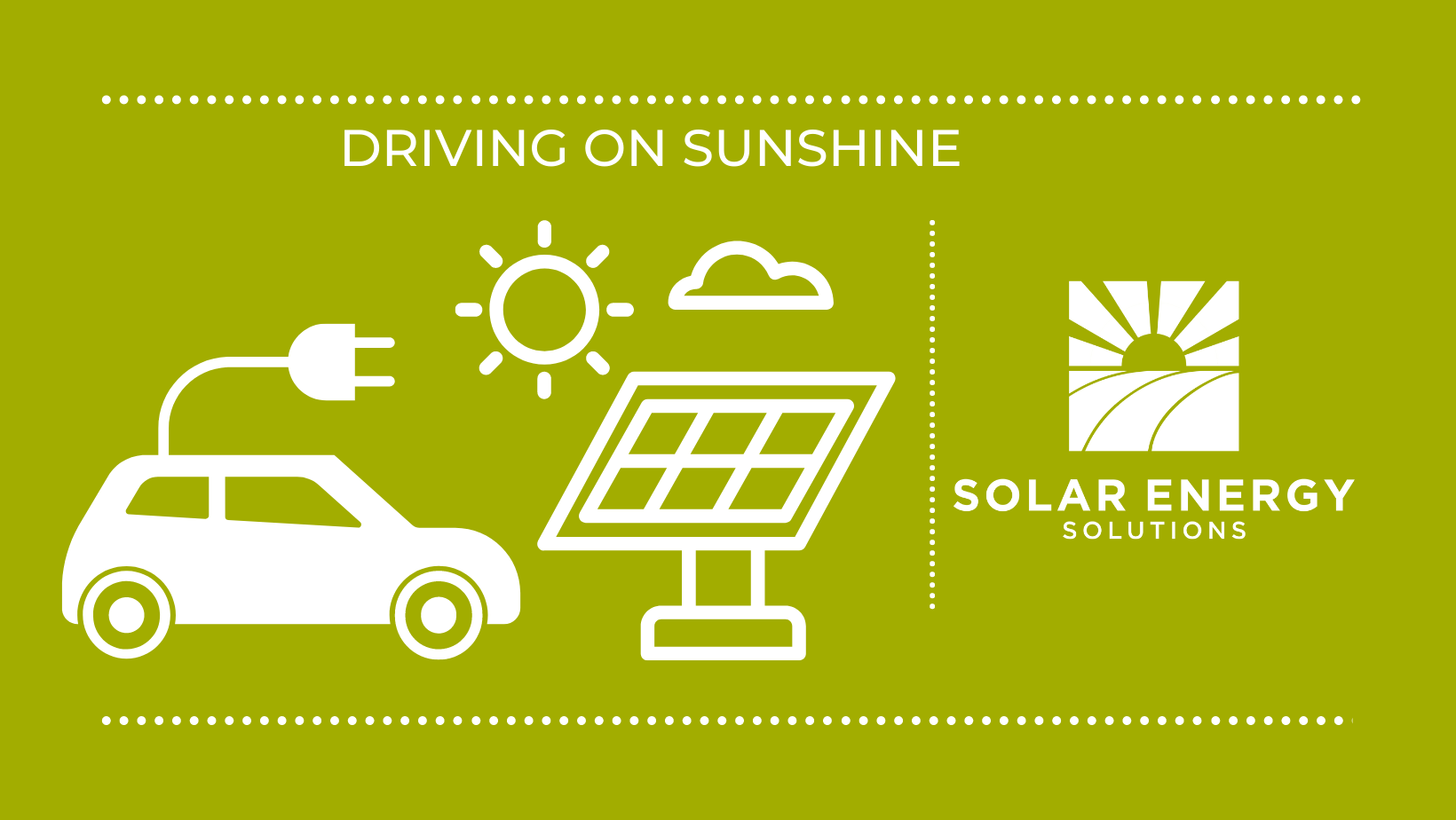 graphic of car with plug to solar panel