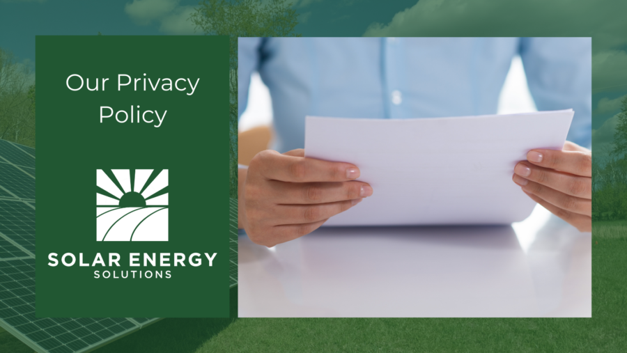Solar Energy Solutions Privacy Policy